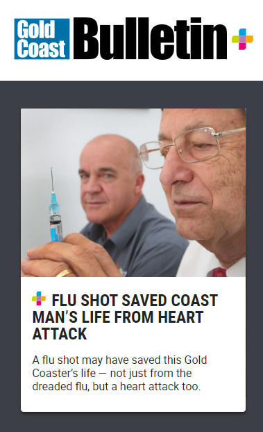 Gold Coast Bulletin article about Flu Vaccination