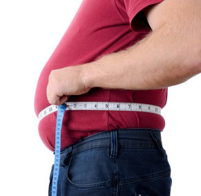 Obese man at high risk of heart disease, diabetes and stroke