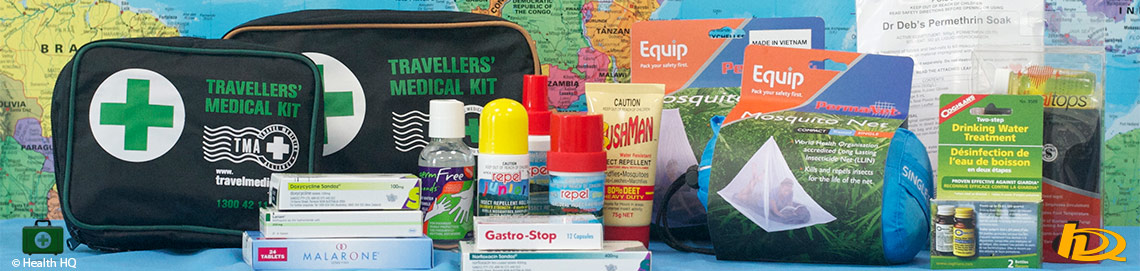 Travel kits for every health issue that may arise on your adventures overseas